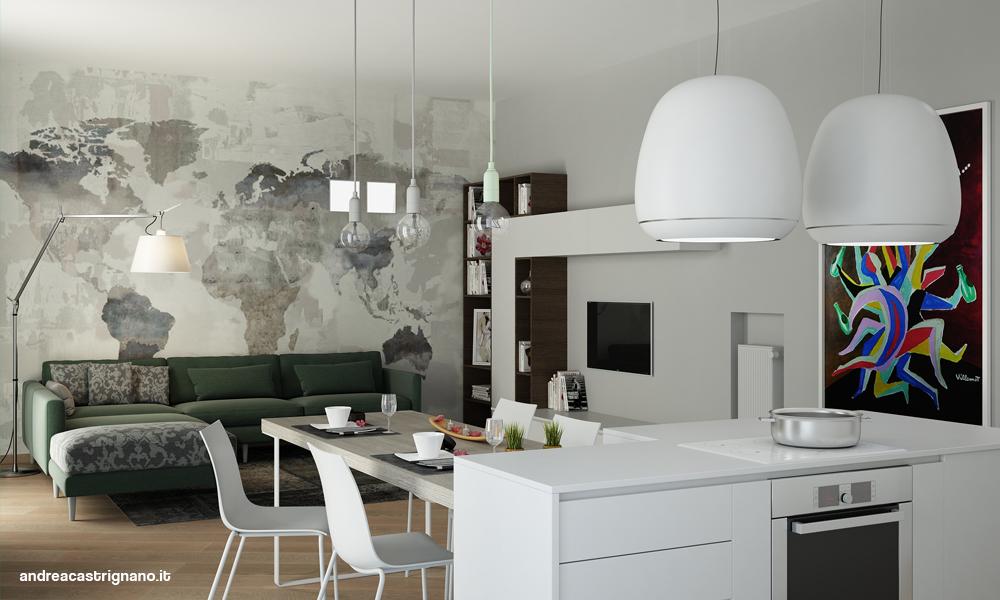 Stunning carta da parati moderna per cucina gallery home - Carta da parati moderna per cucina ...