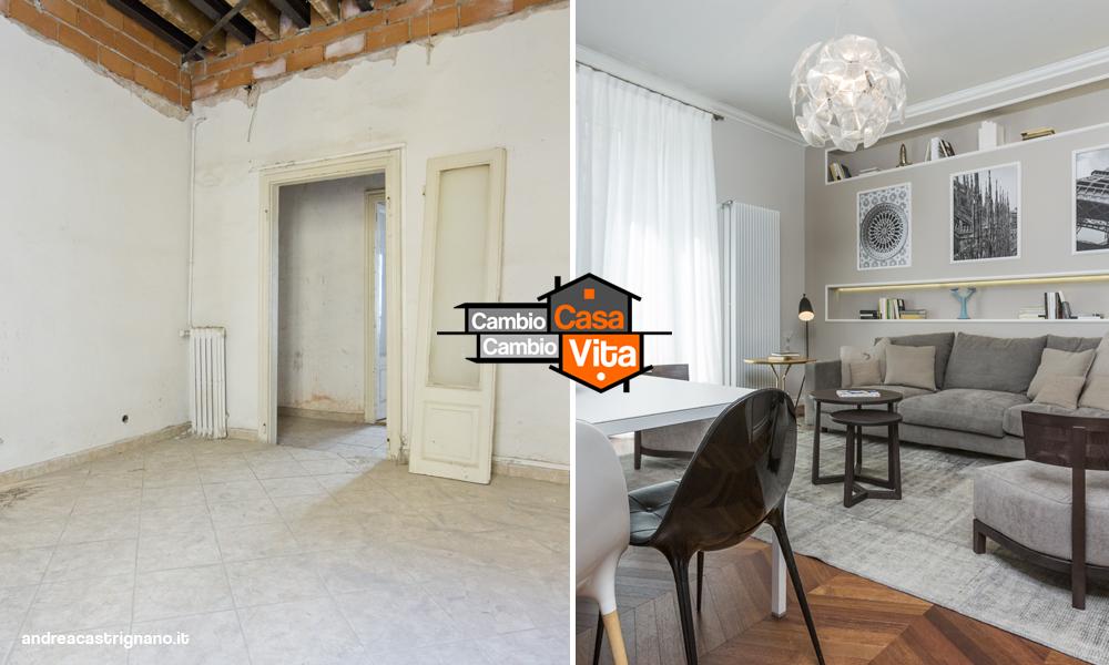 Salotto Stile Moderno Con Pavimento In Marmo Interior Design ...