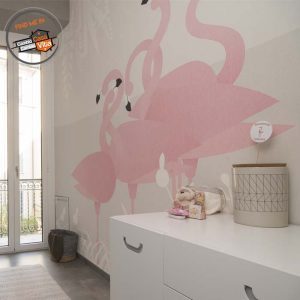 Wallpaper Flamingos di London art