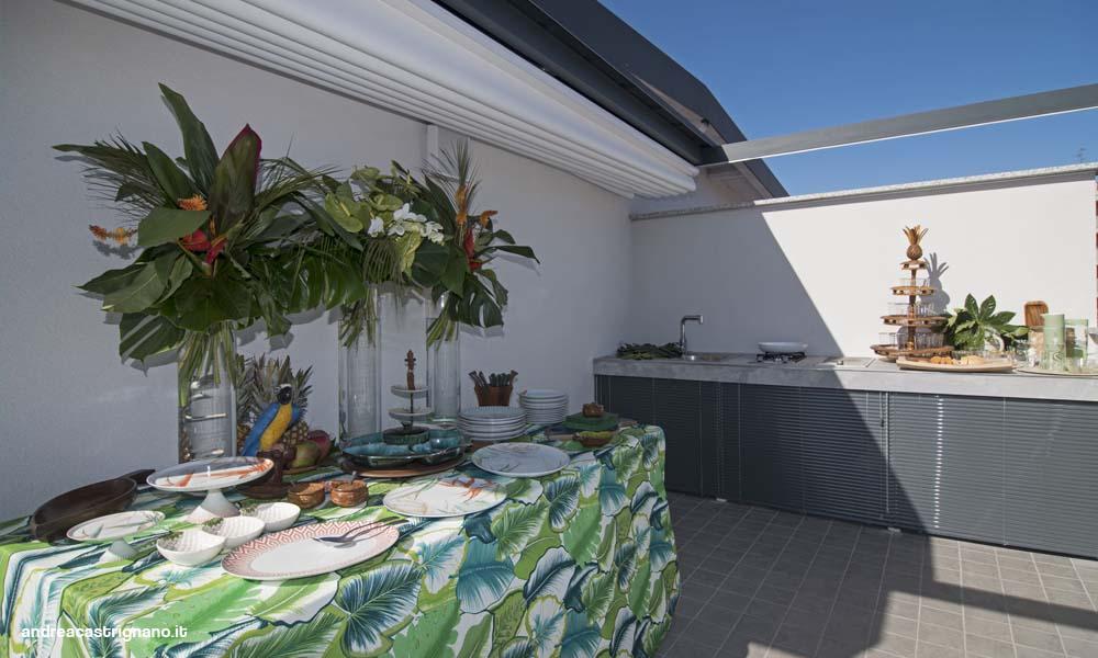 cucina in muratura per esterno